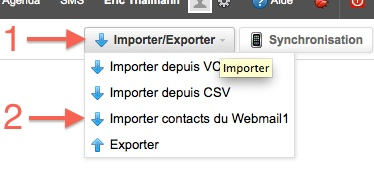 Importing contacts into the WorkSpace address book - Infomaniak