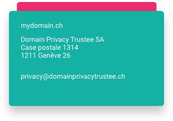 Domain Privacy Trustee SA rende anonimi i suoi dati privati.