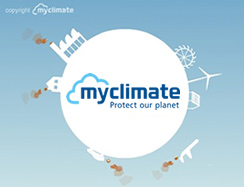 Our CO2 emissions are fully offset through Myclimate.org