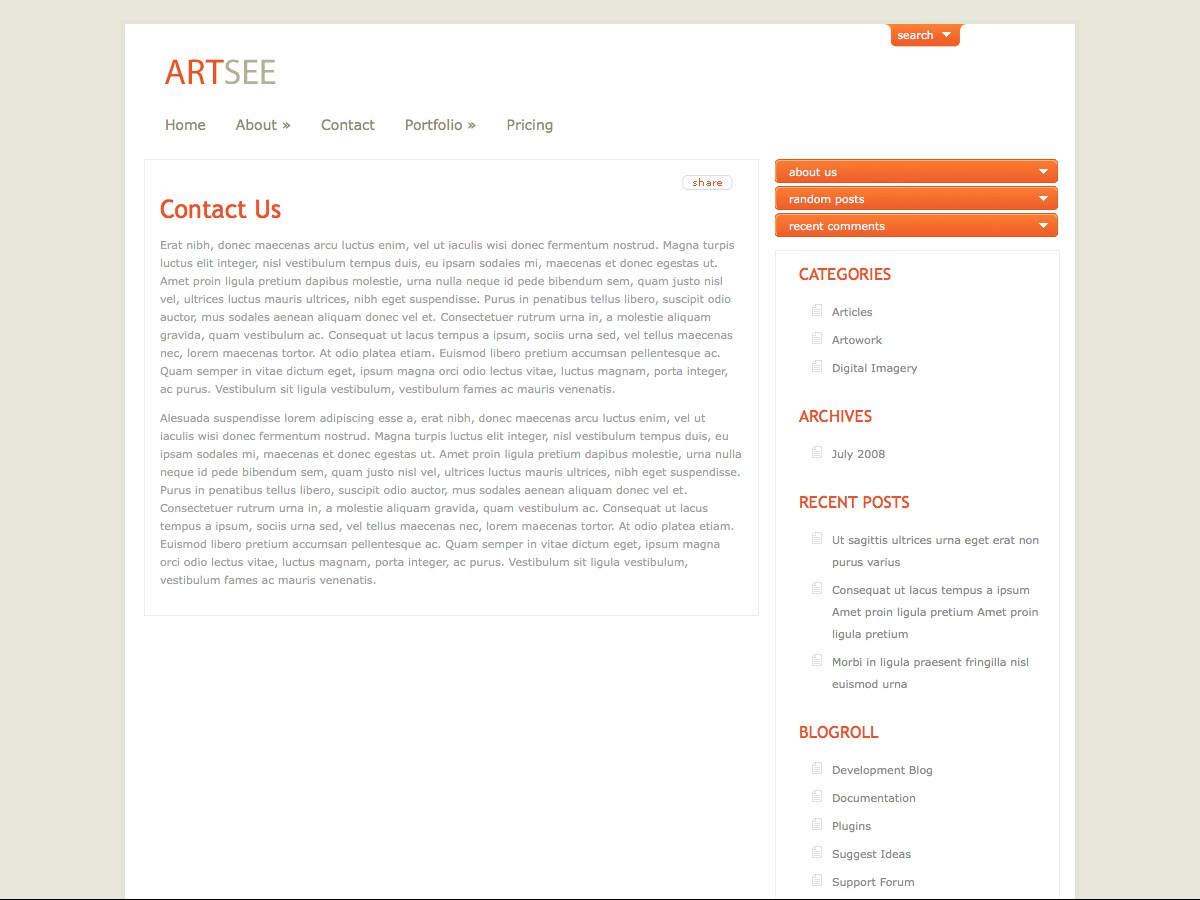 I nostri temi Wordpress - ArtSee