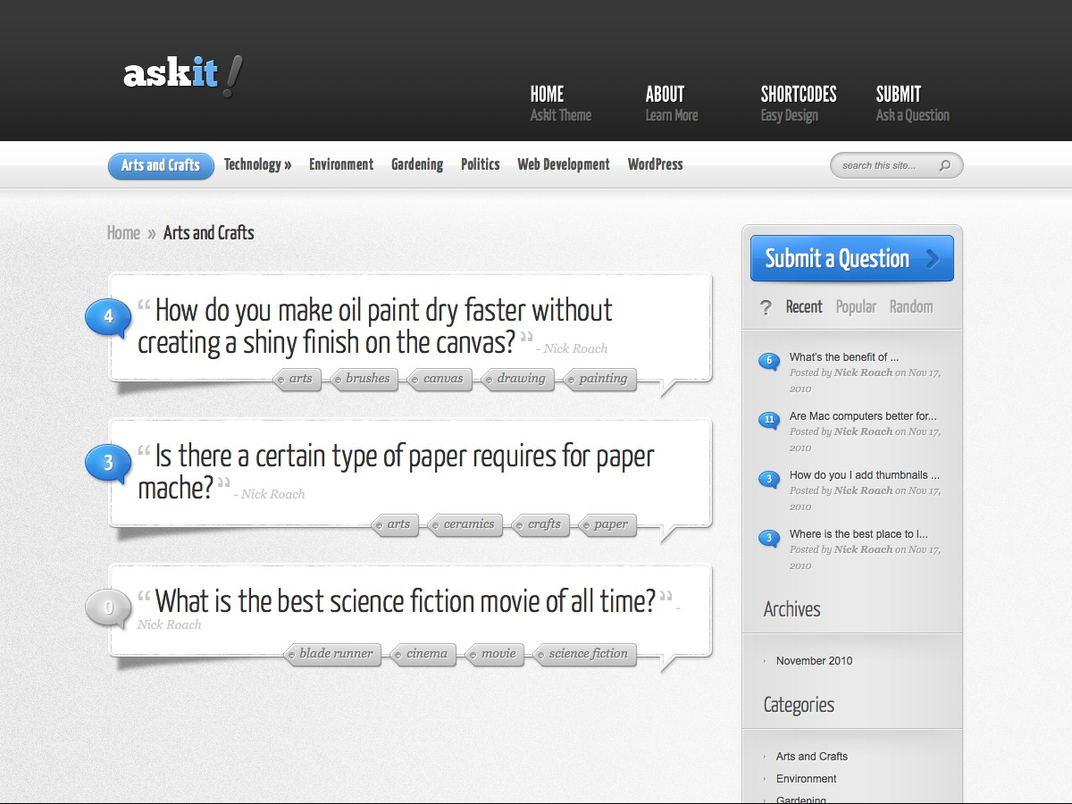 Our WordPress themes - AskIt