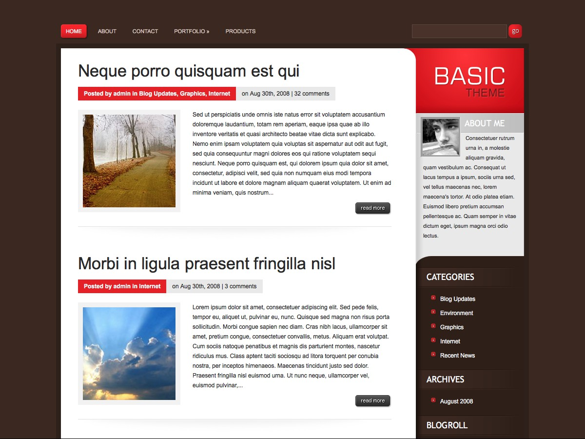 I nostri temi Wordpress - Basic