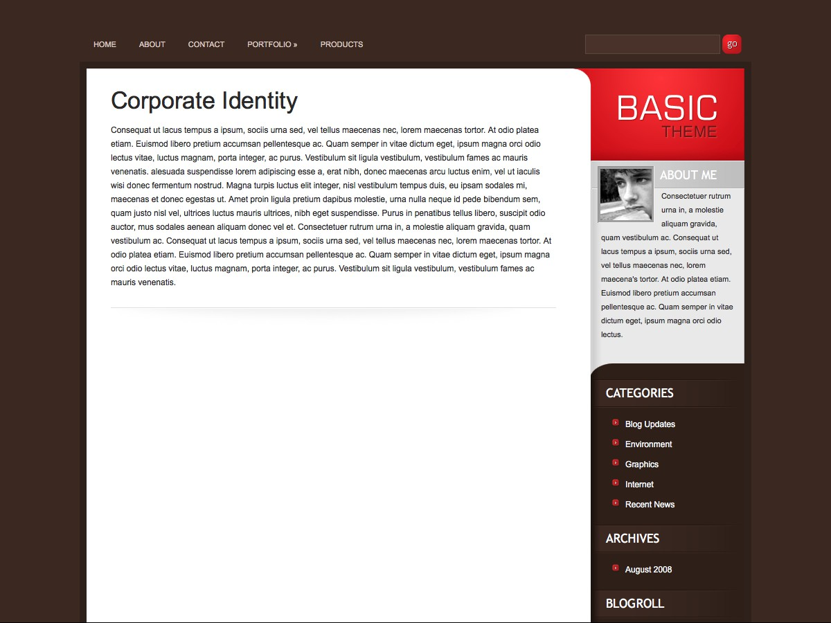 Nuestros temas WordPress - Basic