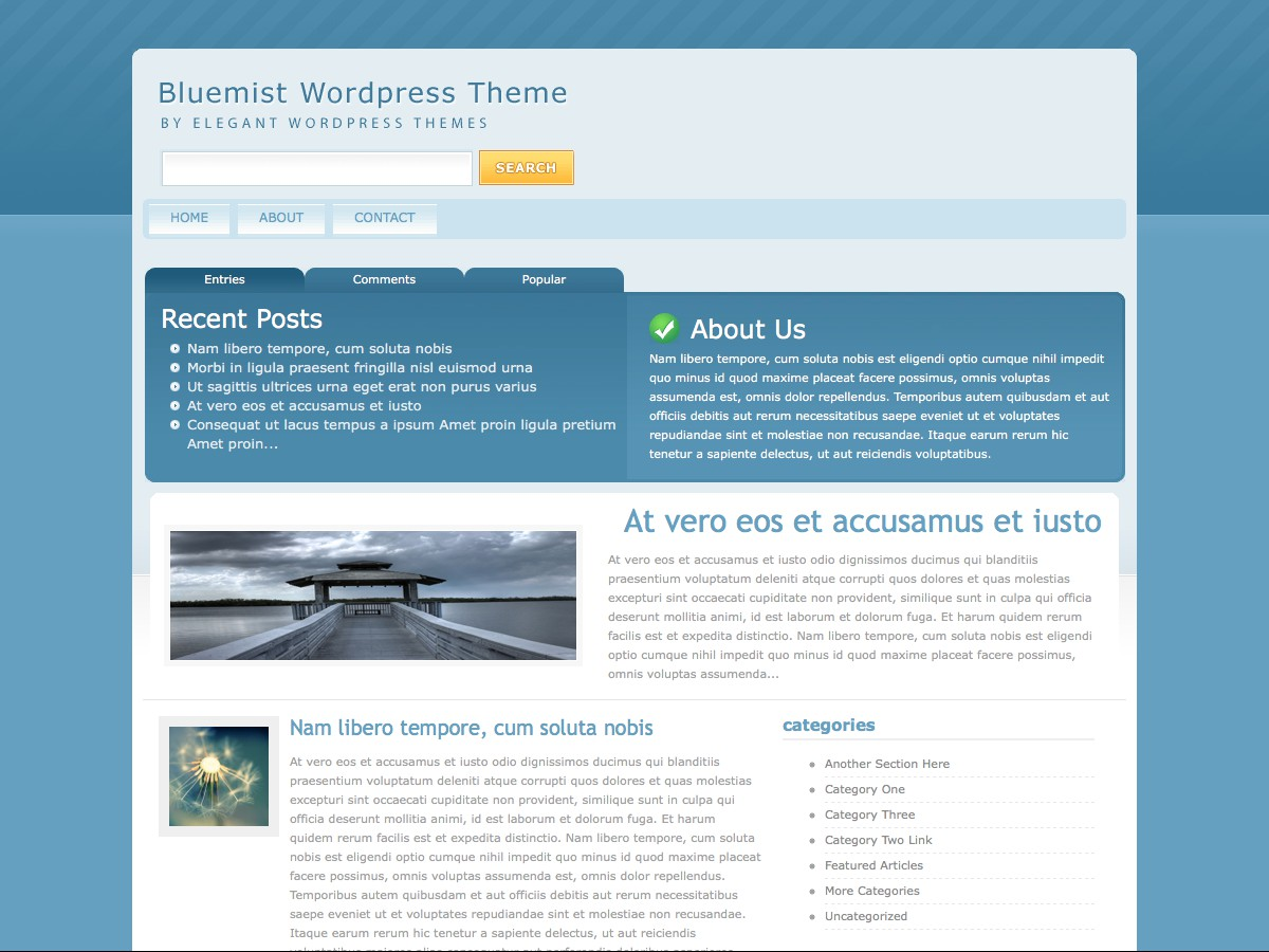 Unsere WordPress-Themes - BlueMist