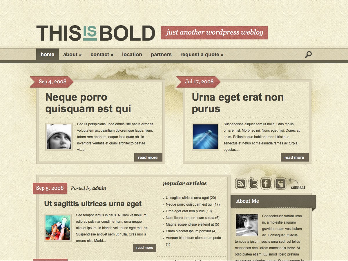 Our WordPress themes - Bold