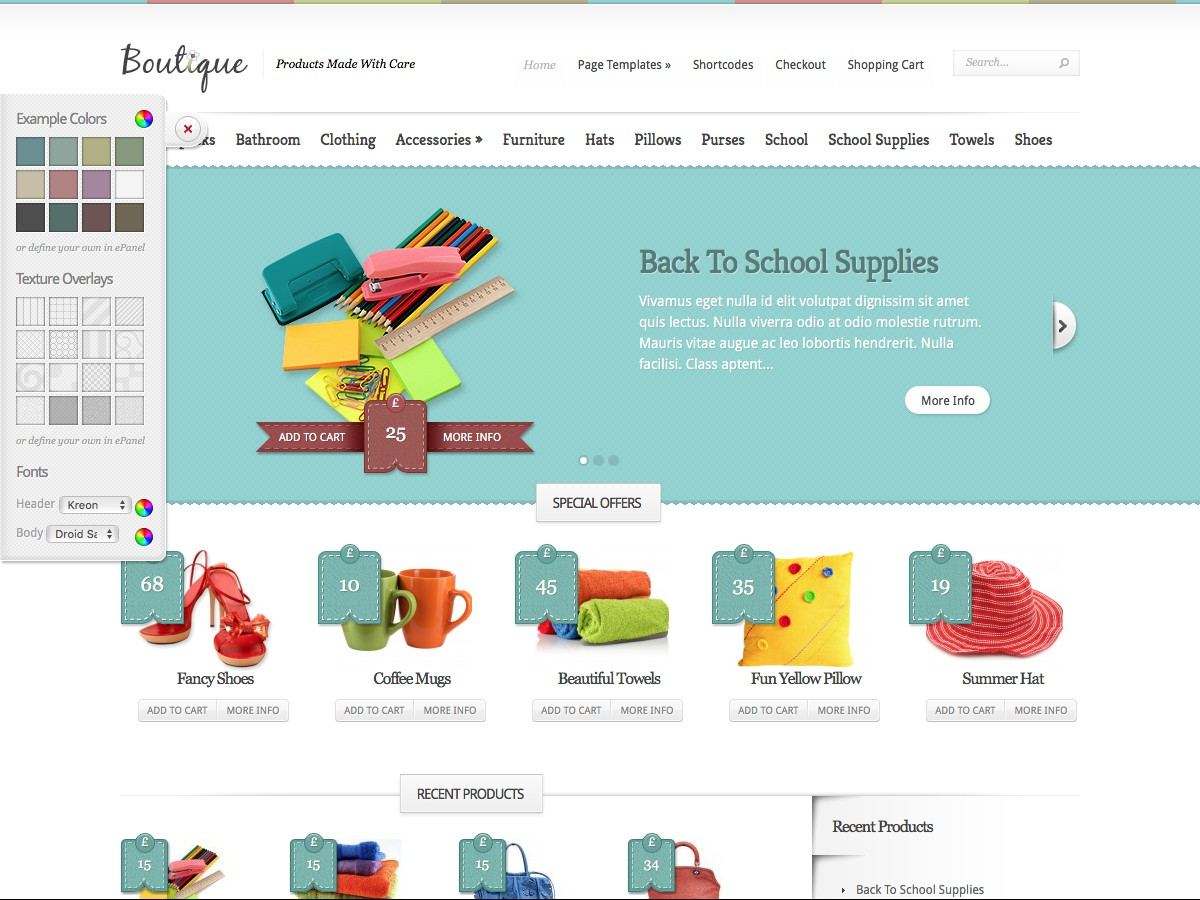 Nuestros temas WordPress - Boutique
