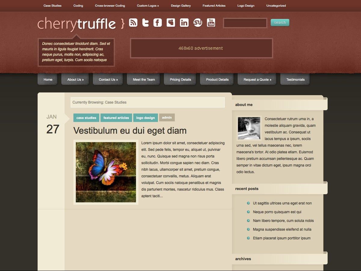 Our WordPress themes - CherryTruffle