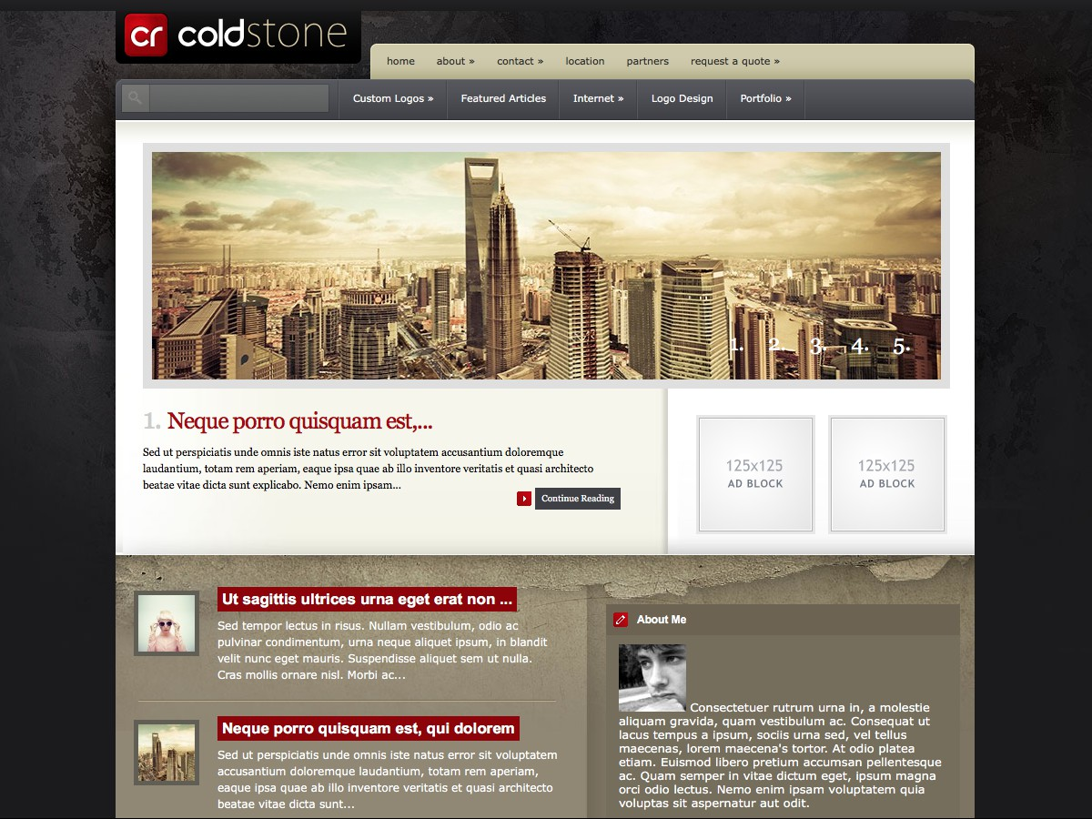 Our WordPress themes - ColdStone
