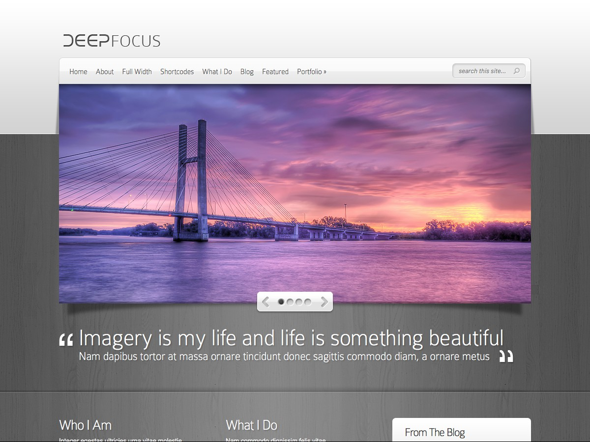 Our WordPress themes - DeepFocus