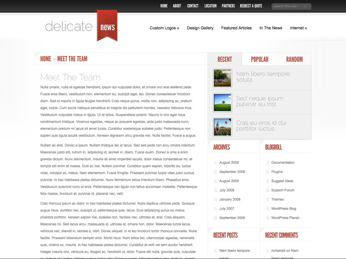 I nostri temi Wordpress - DelicateNews