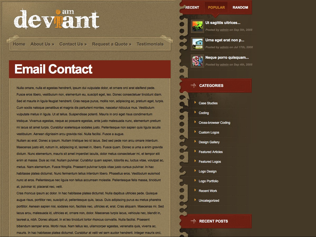 Our WordPress themes - Deviant