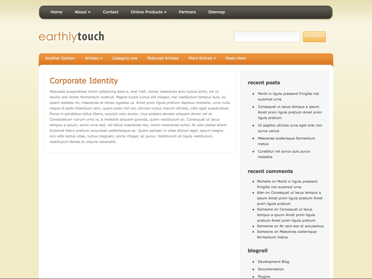 I nostri temi Wordpress - EarthlyTouch