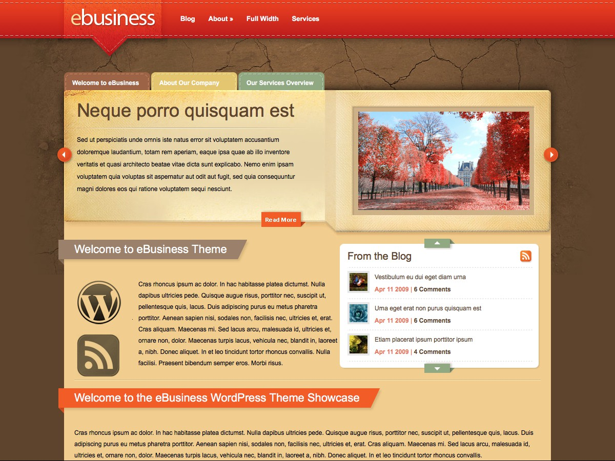 I nostri temi Wordpress - eBusiness