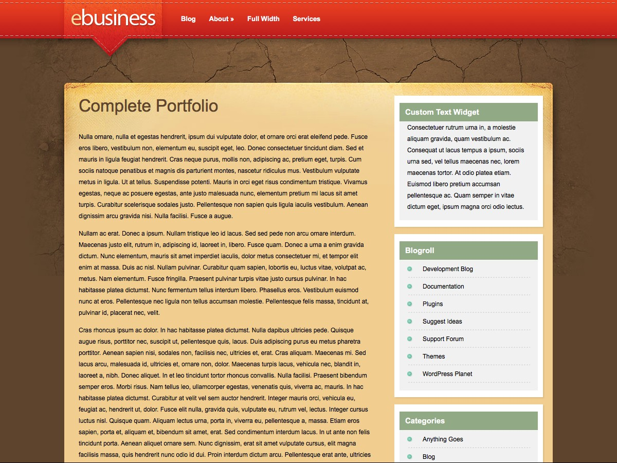 Unsere WordPress-Themes - eBusiness