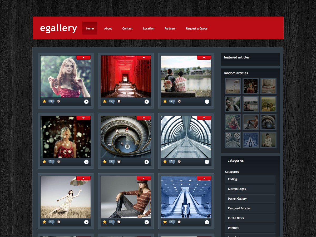 Our WordPress themes - eGallery