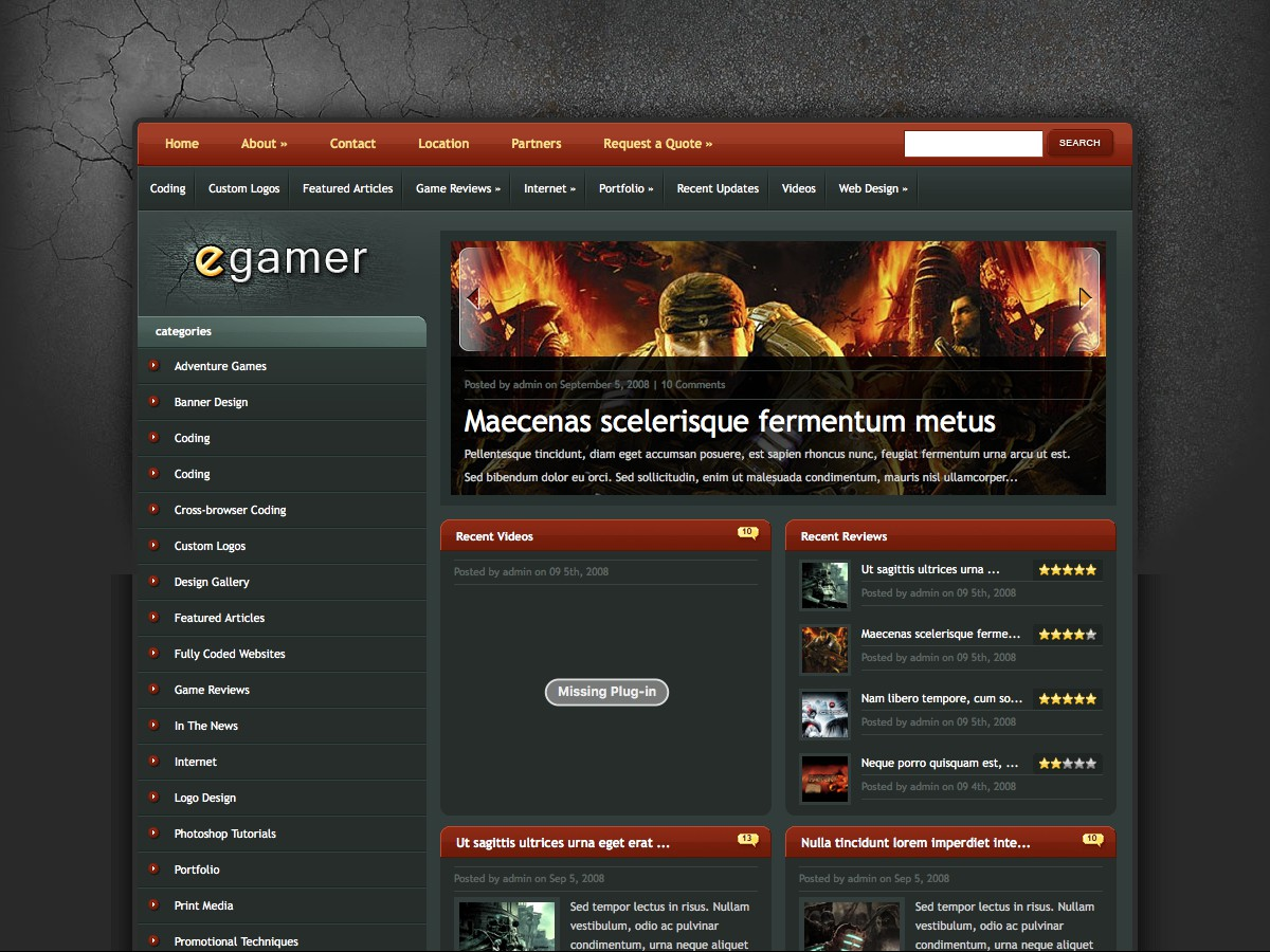 I nostri temi Wordpress - eGamer