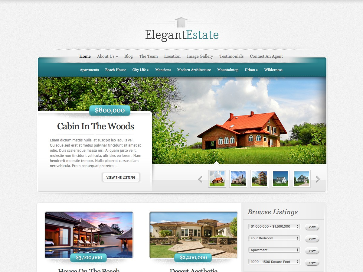 Our WordPress themes - ElegantEstate