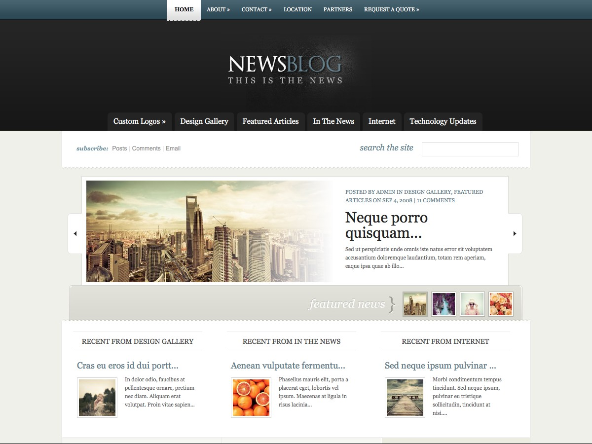 Nuestros temas WordPress - eNews