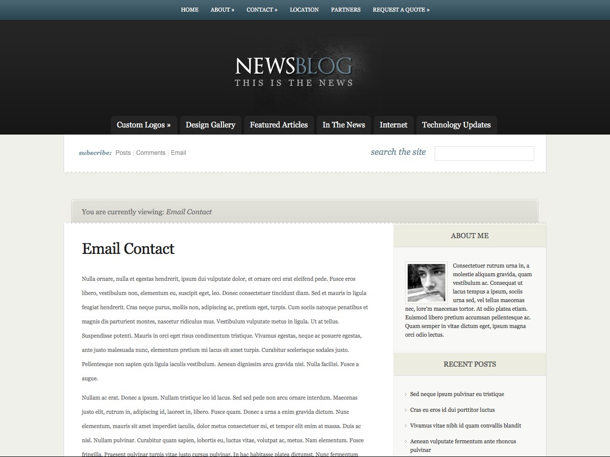 Nos thèmes WordPress - eNews