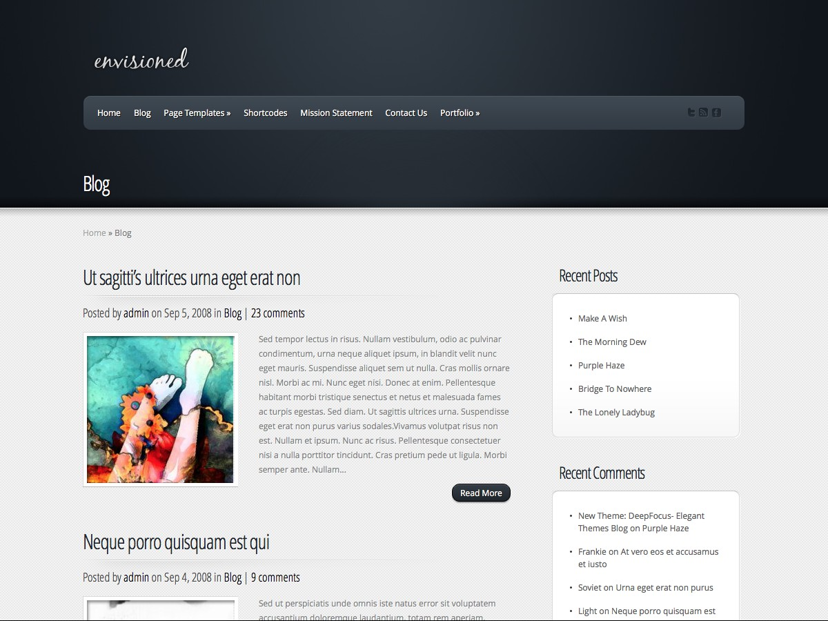 Nuestros temas WordPress - Envisioned