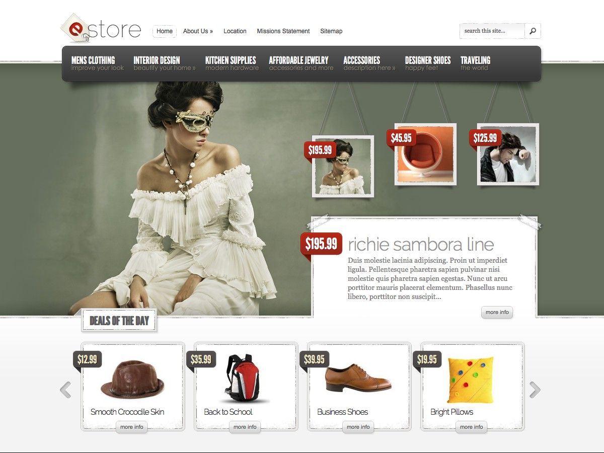Our WordPress themes - eStore