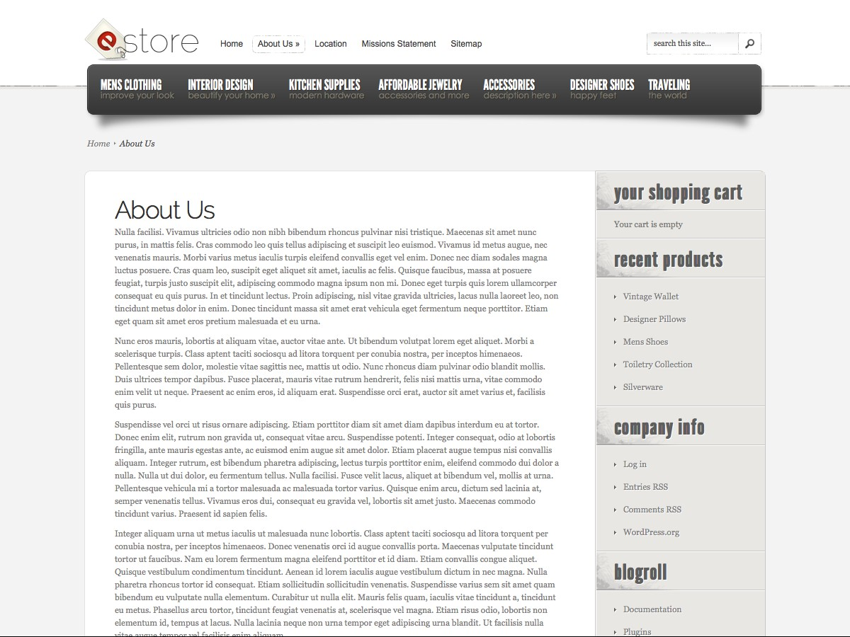 Unsere WordPress-Themes - eStore