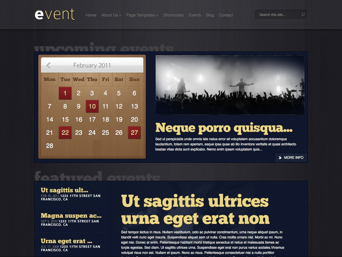 Our WordPress themes - Event