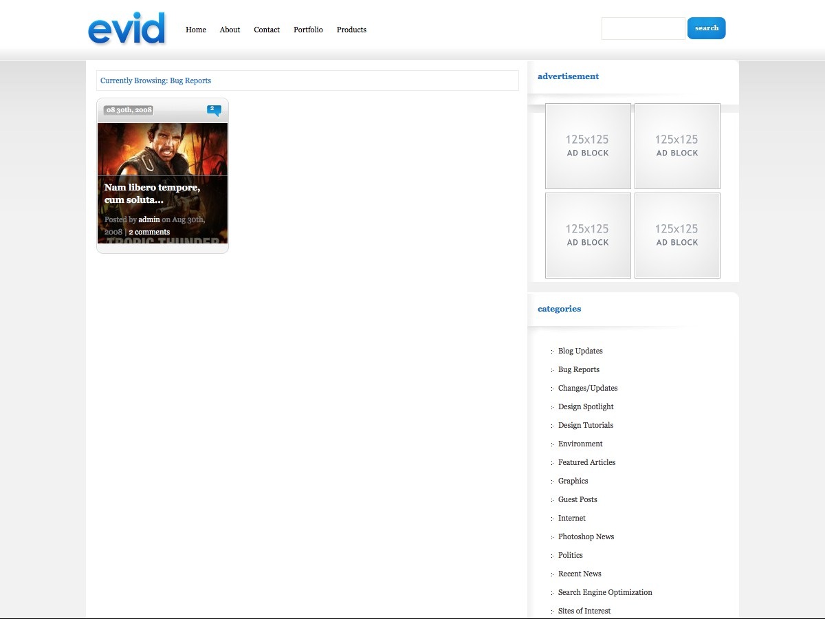 Our WordPress themes - eVid