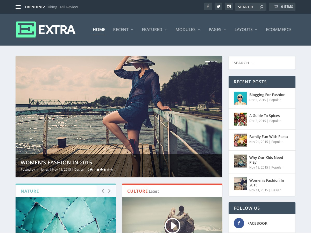 I nostri temi Wordpress - Extra