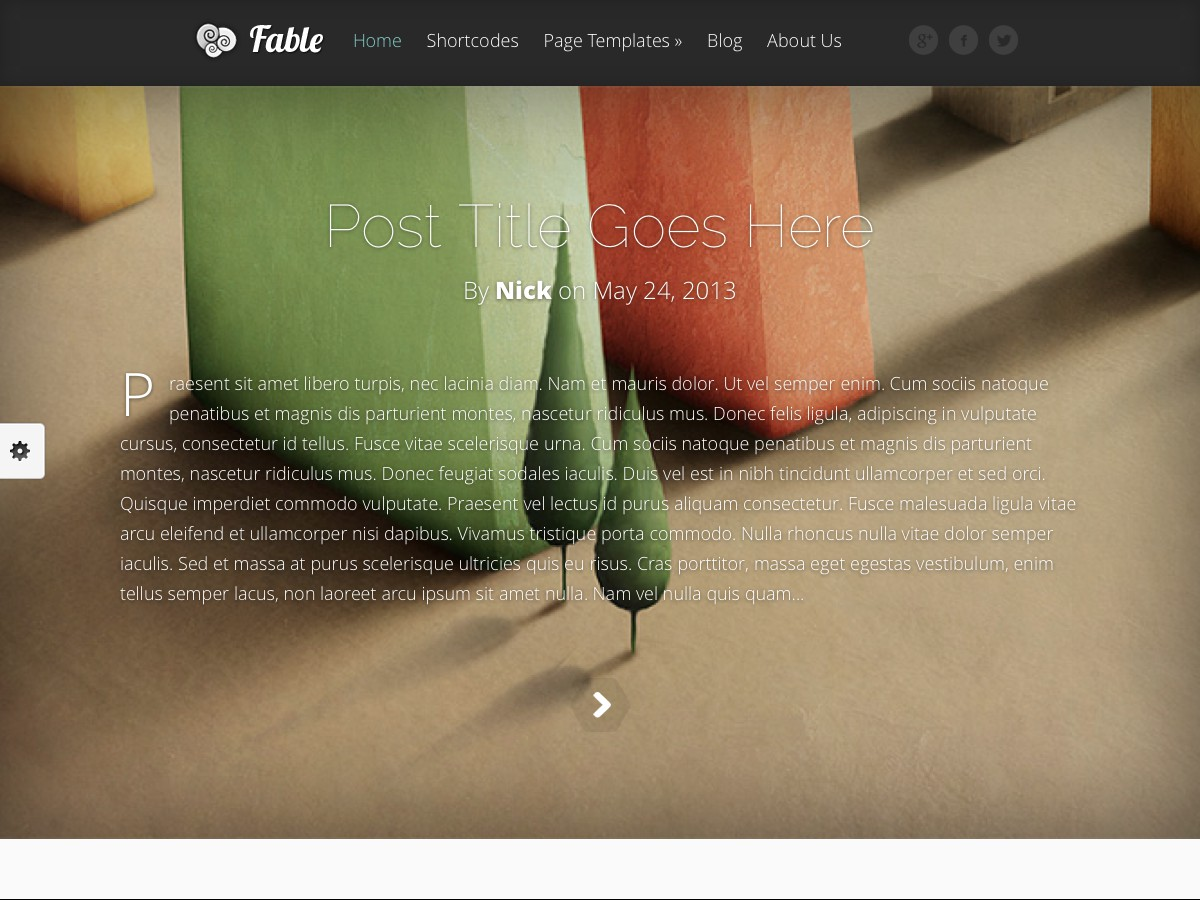 Our WordPress themes - Fable