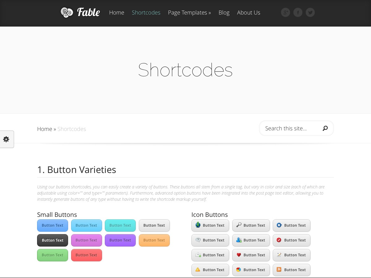 Nuestros temas WordPress - Fable