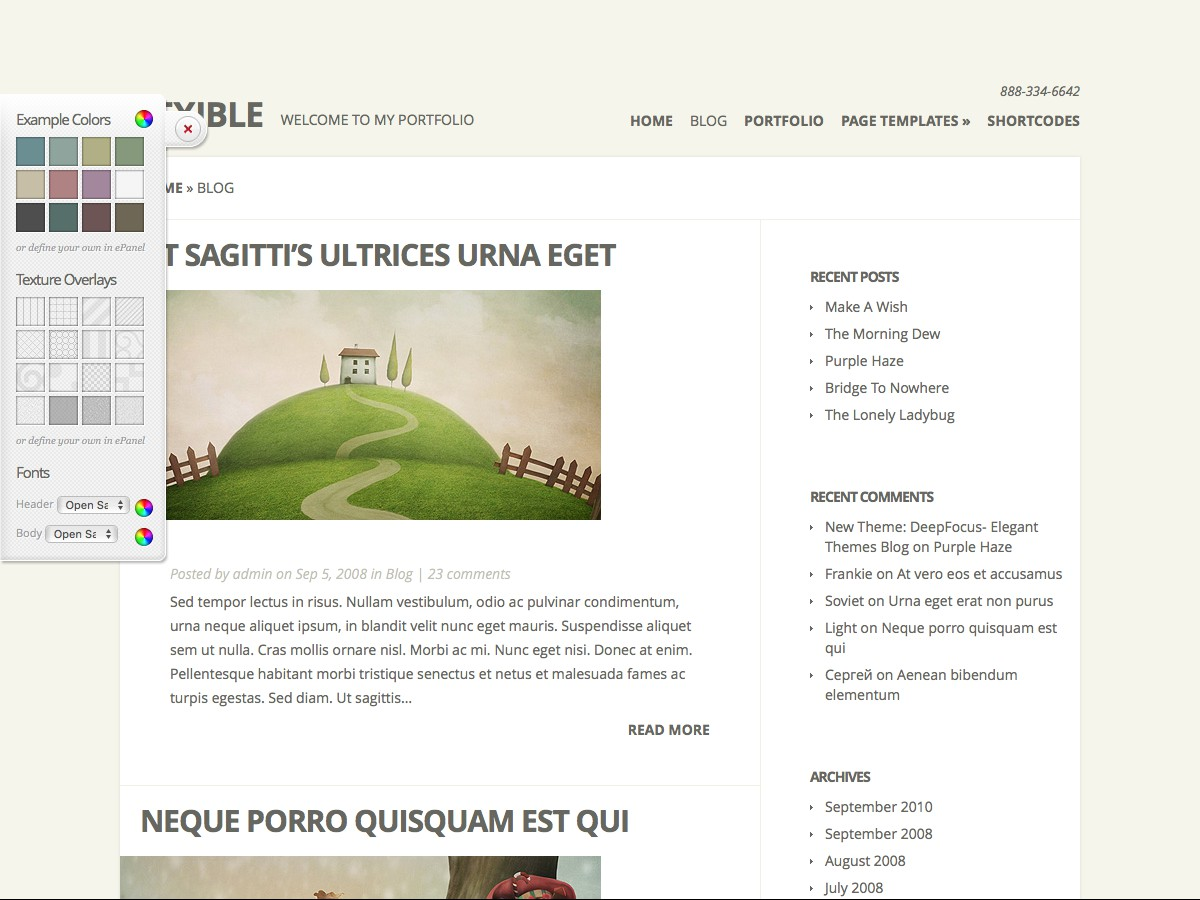Nos thèmes WordPress - Flexible