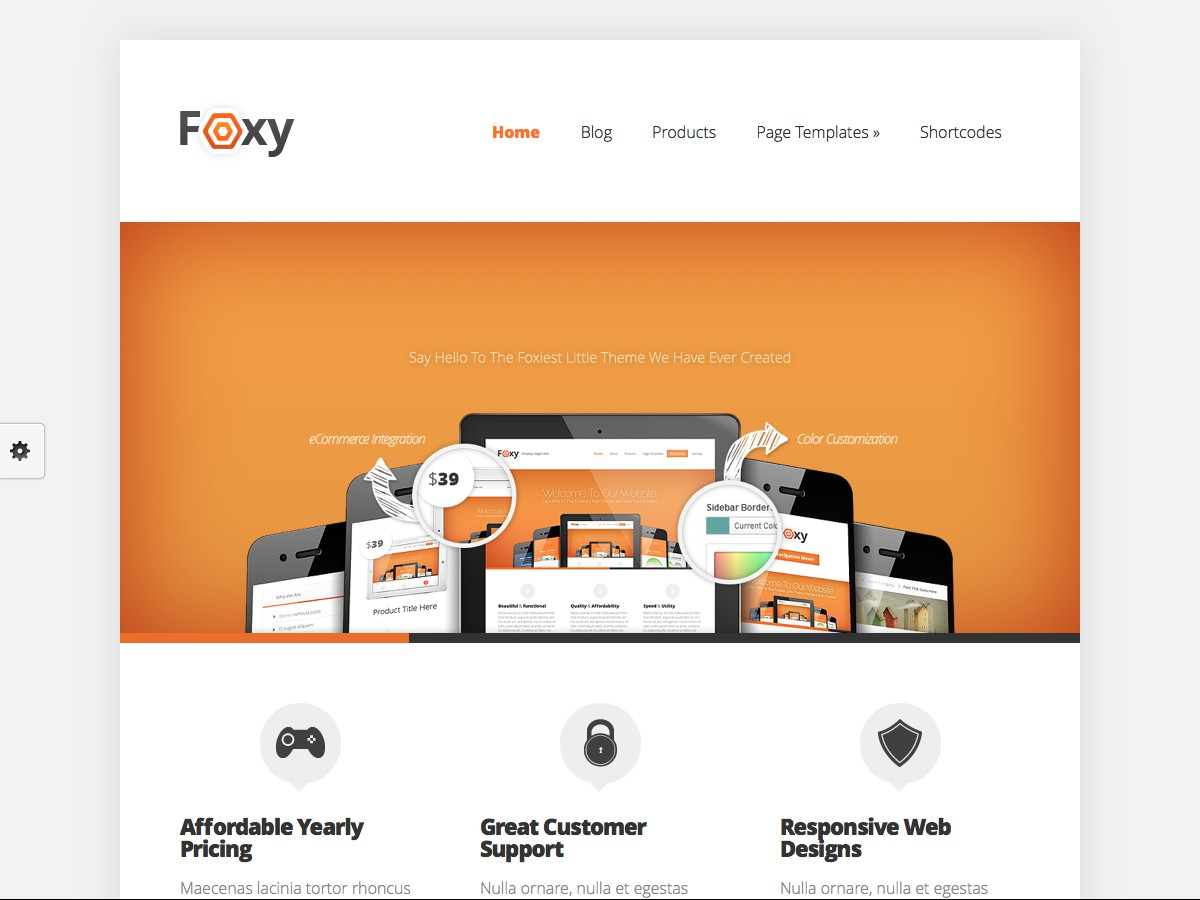 Unsere WordPress-Themes - Foxy