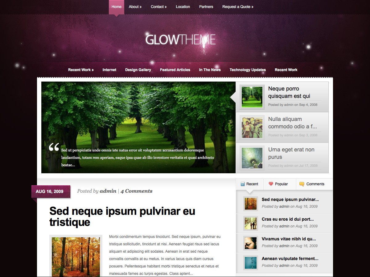 I nostri temi Wordpress - Glow