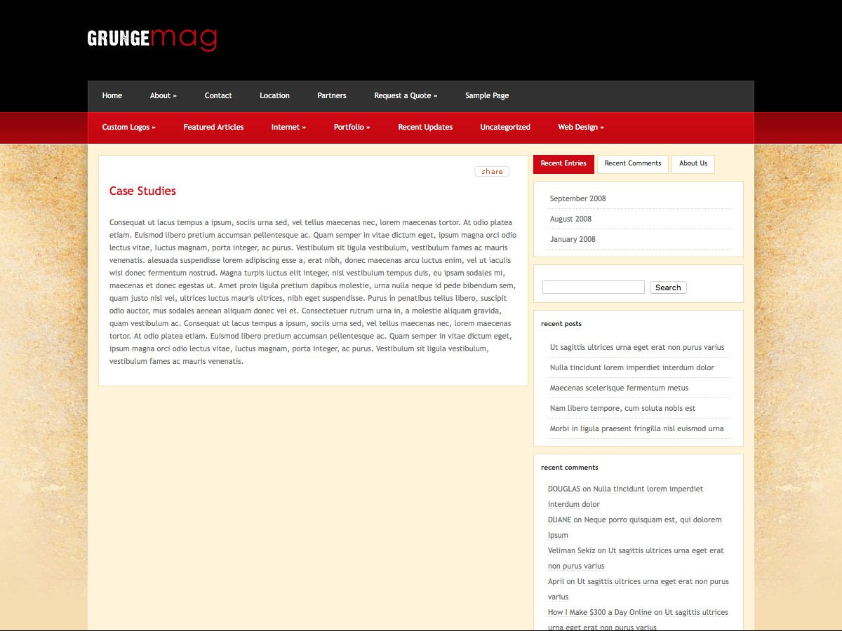 Our WordPress themes - GrungeMag