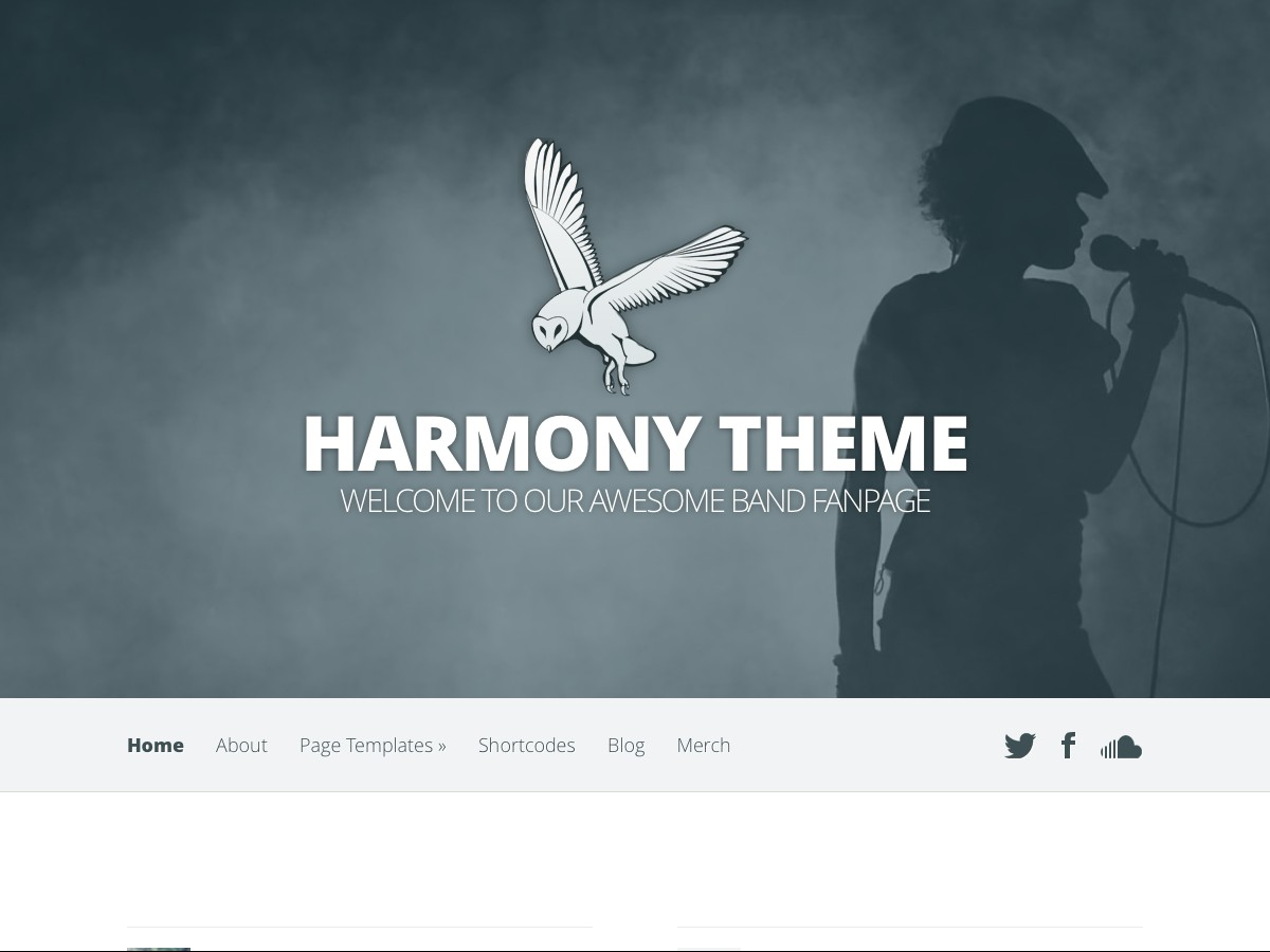 Our WordPress themes - Harmony