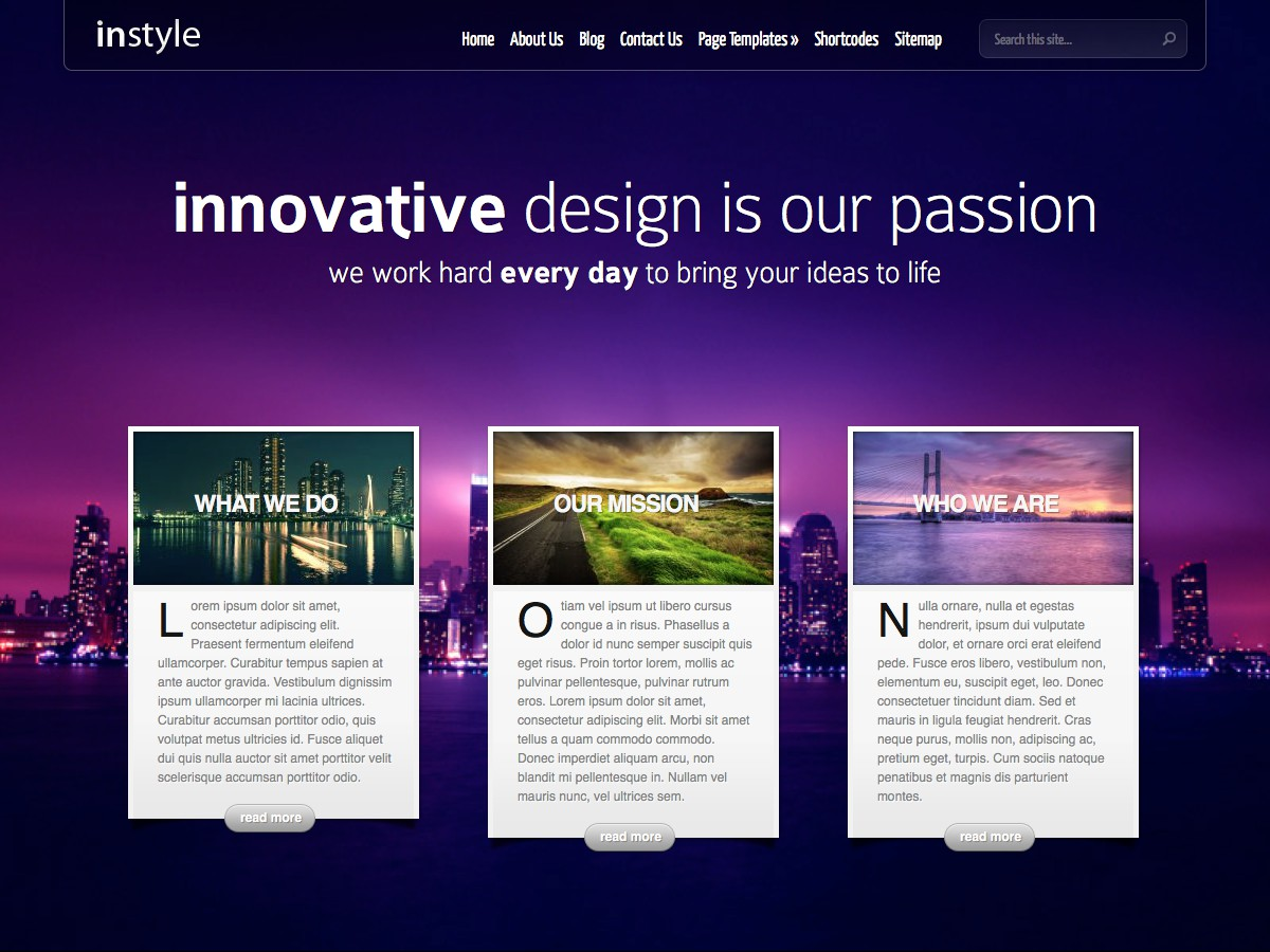 Our WordPress themes - InStyle