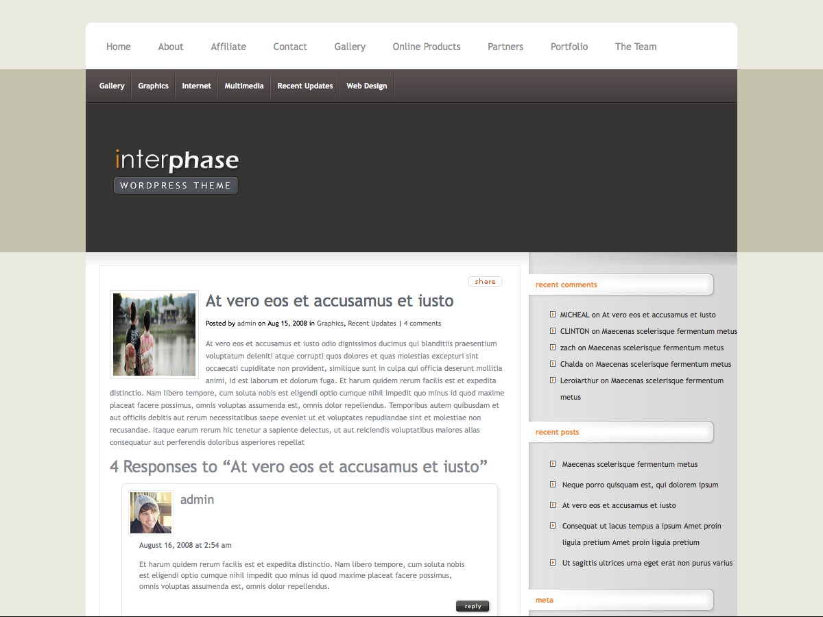 Our WordPress themes - InterPhase