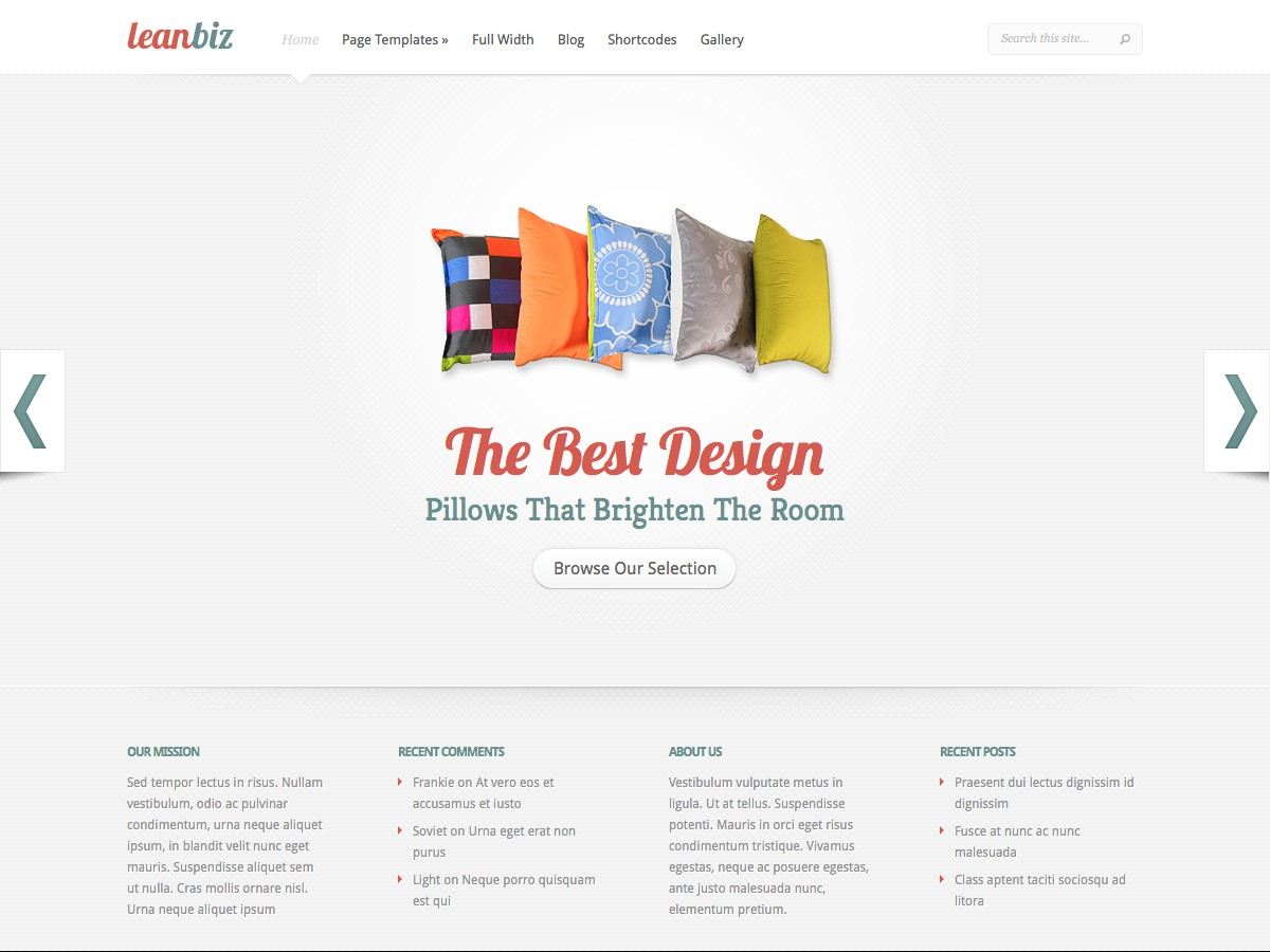 Unsere WordPress-Themes - LeanBiz