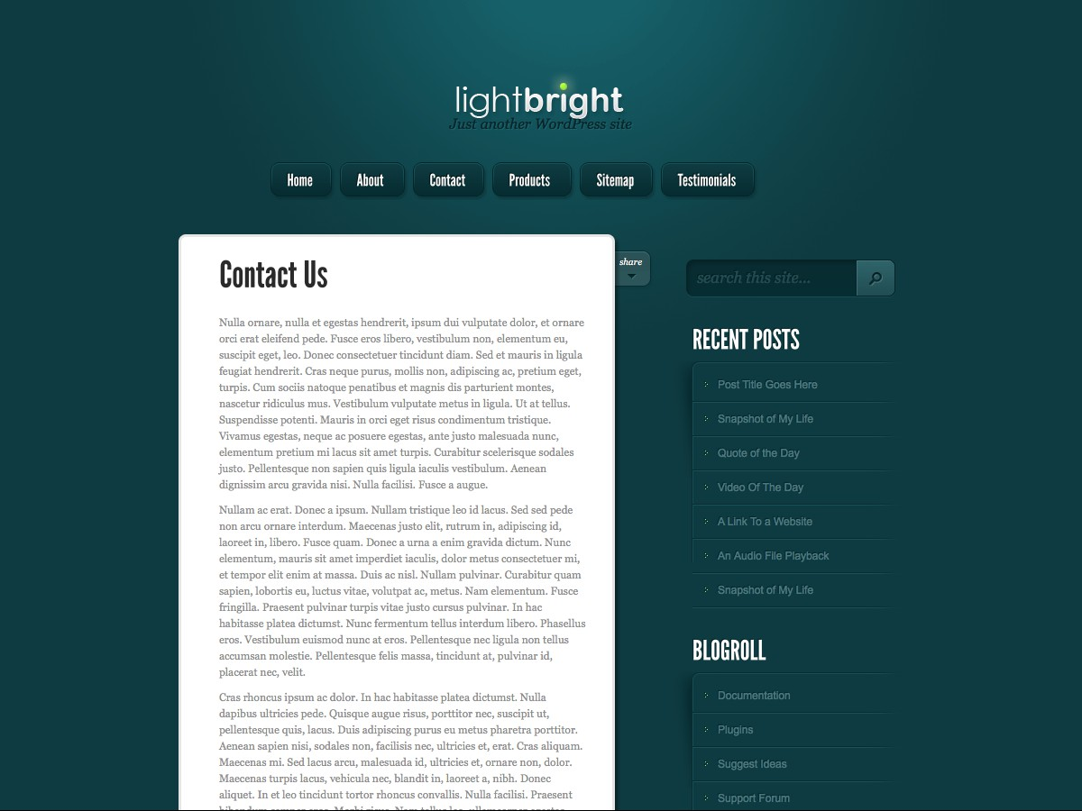 Nos thèmes WordPress - LightBright