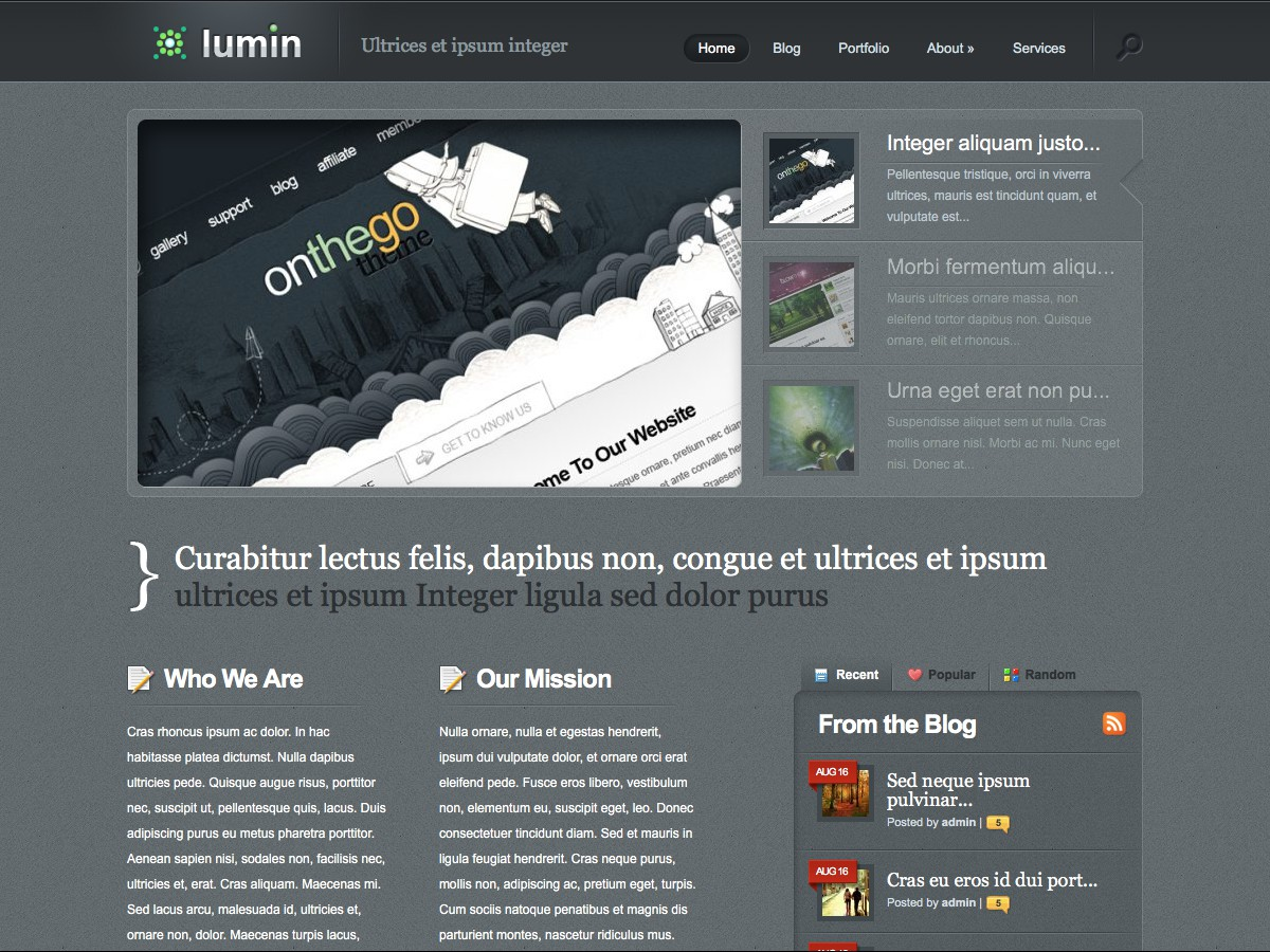 Nuestros temas WordPress - Lumin