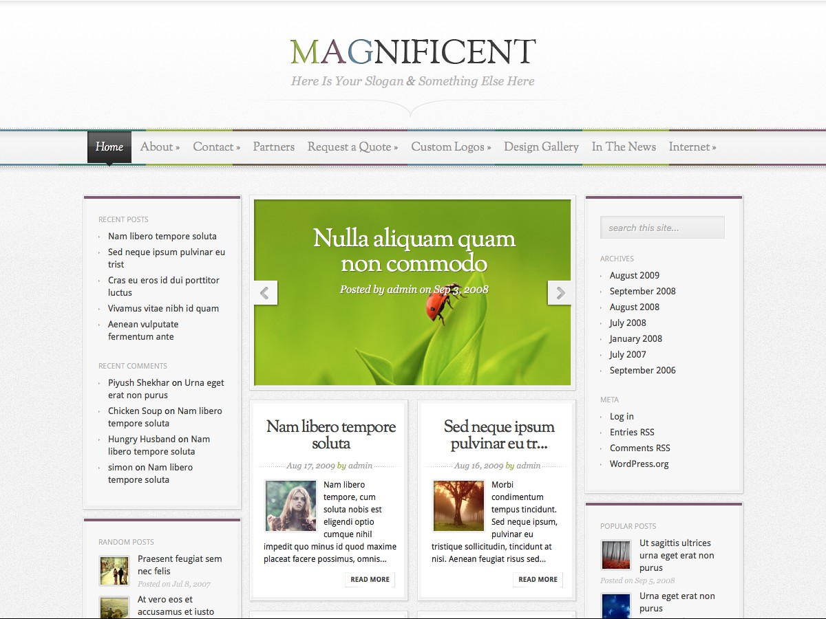 Nuestros temas WordPress - Magnificent