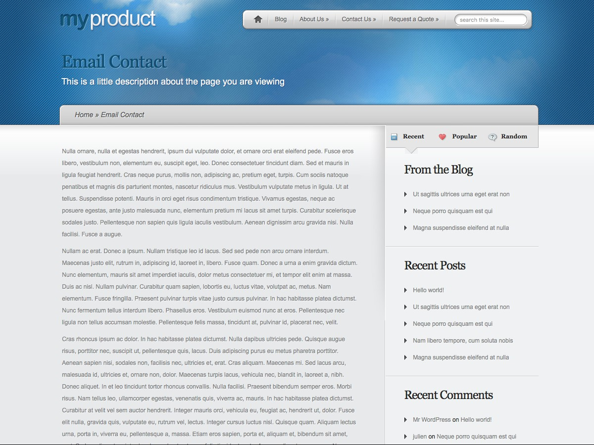 I nostri temi Wordpress - MyProduct