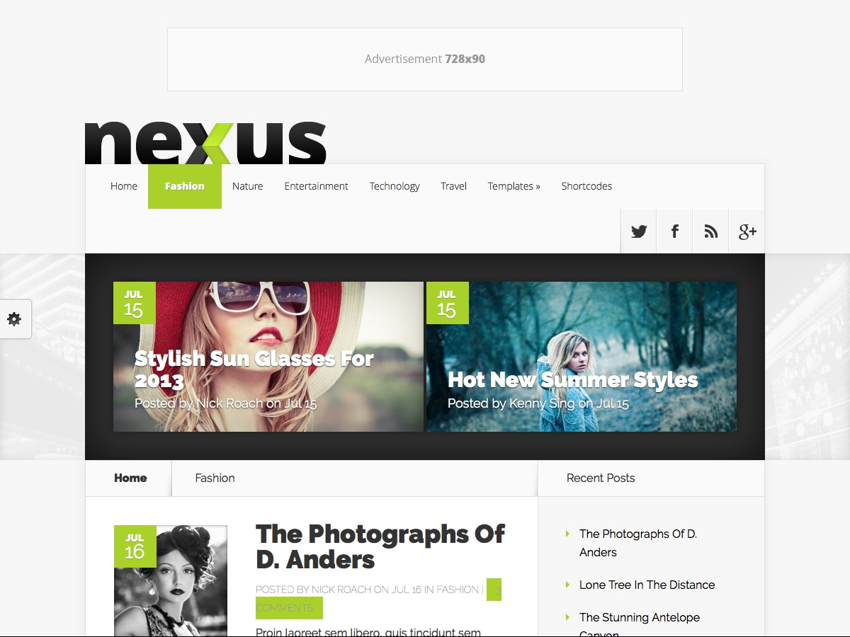 Our WordPress themes - Nexus