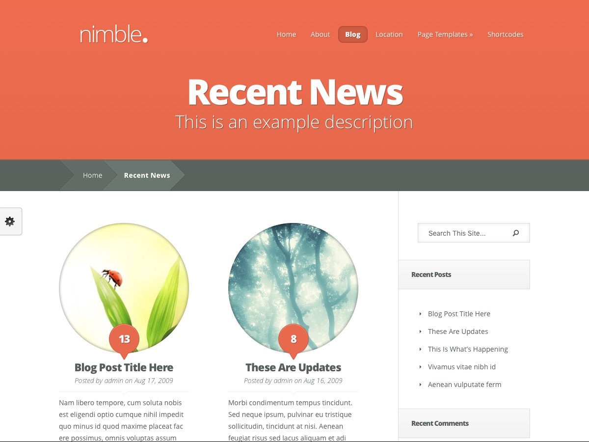 I nostri temi Wordpress - Nimble