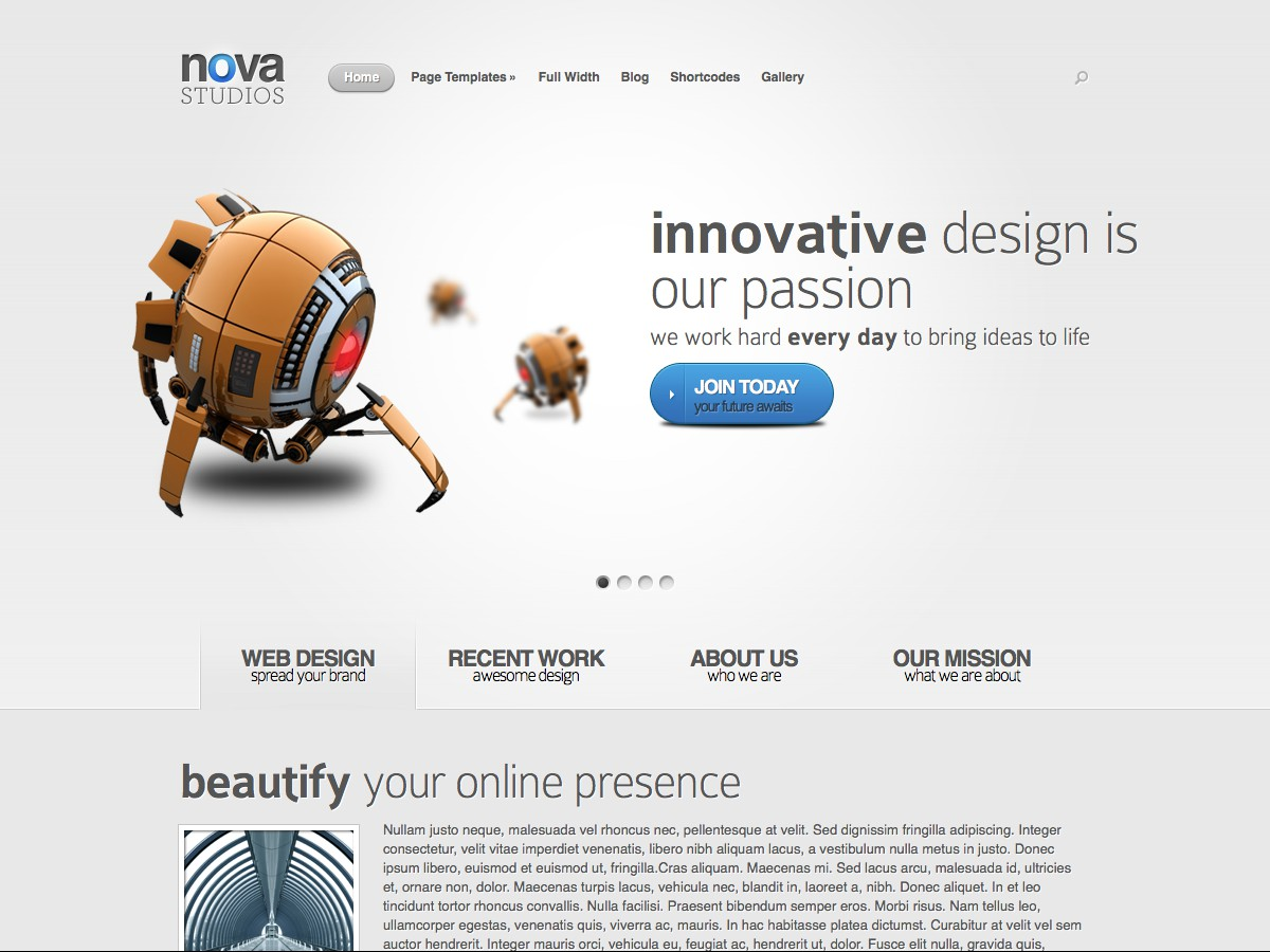 Our WordPress themes - Nova
