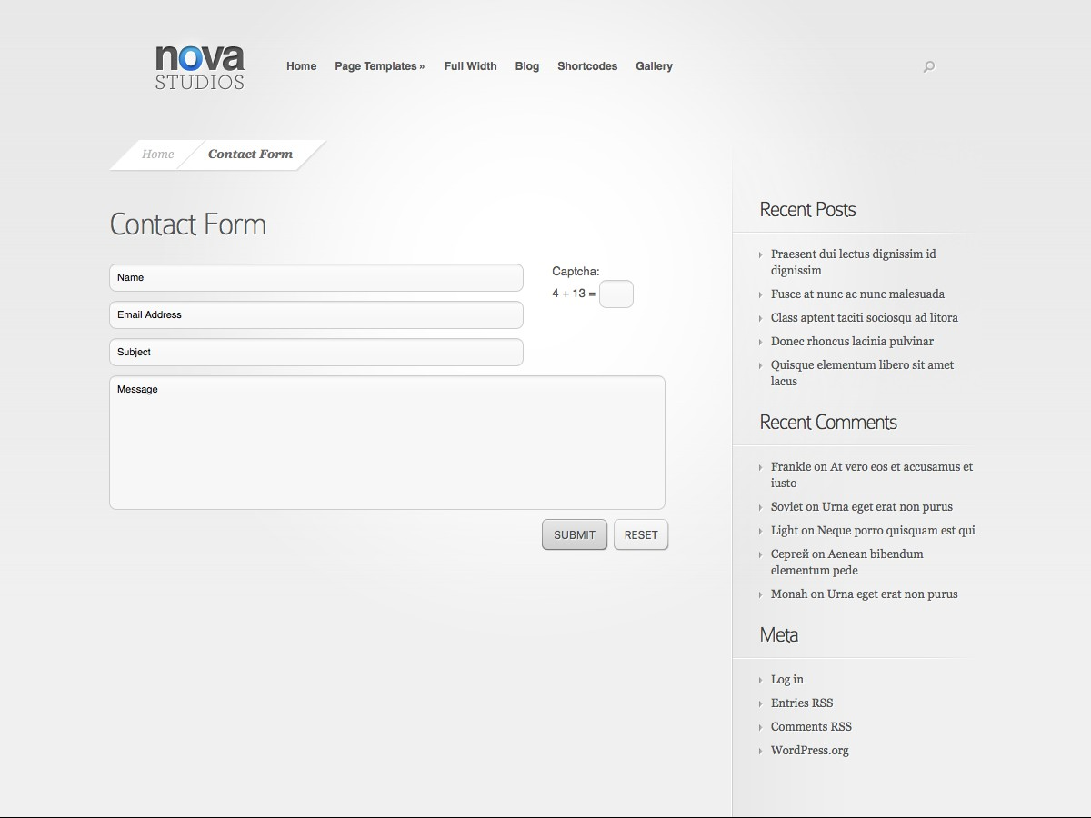 Unsere WordPress-Themes - Nova