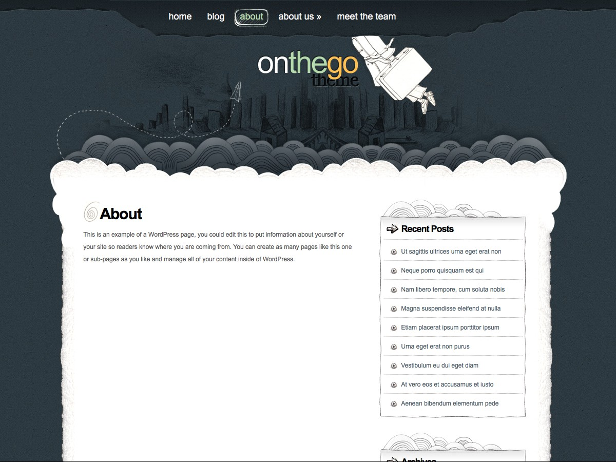 Our WordPress themes - OnTheGo