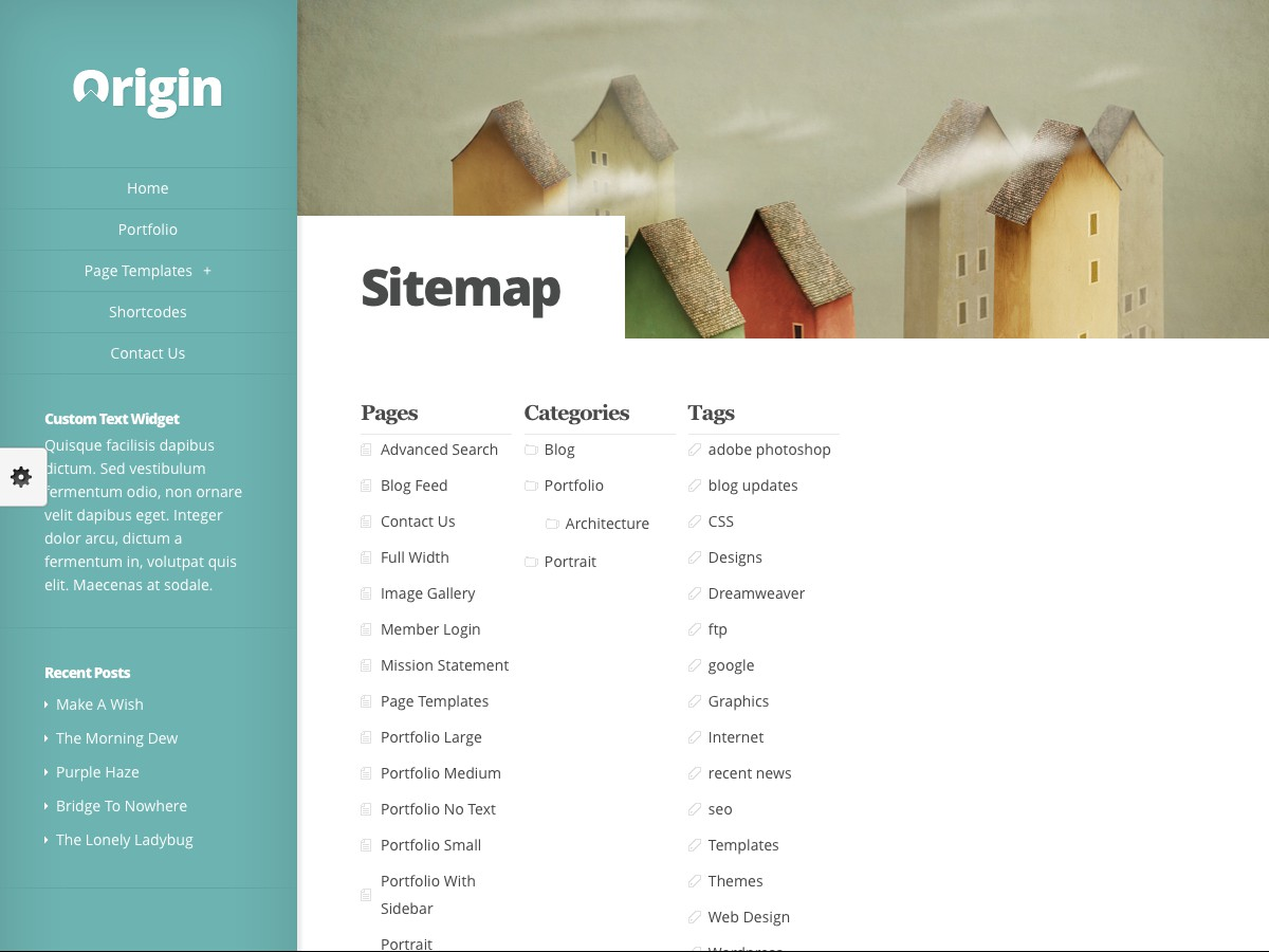 Our WordPress themes - Origin