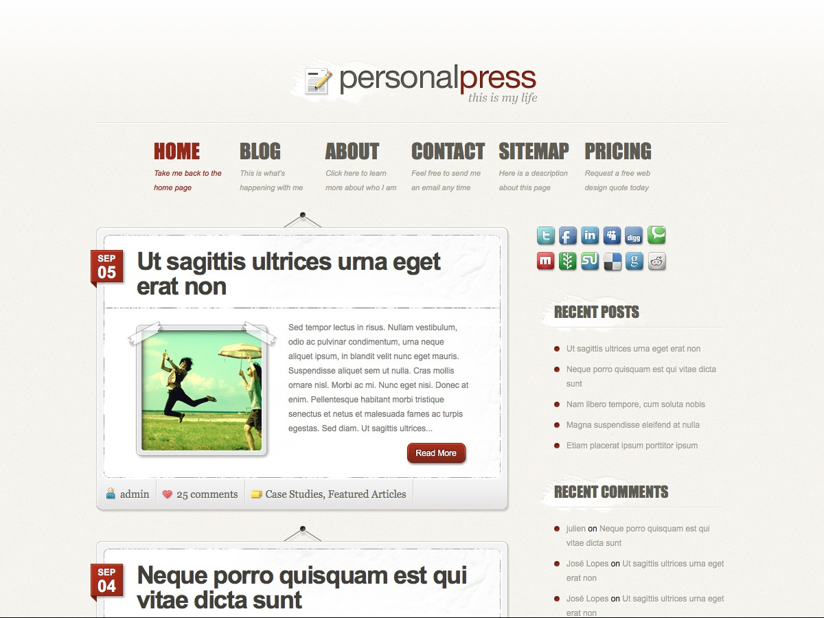 Unsere WordPress-Themes - PersonalPress